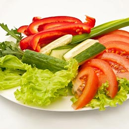 Овощной гарнир (помидор, огурец)